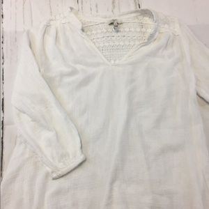 Joie Peasant Blouse with lace detail